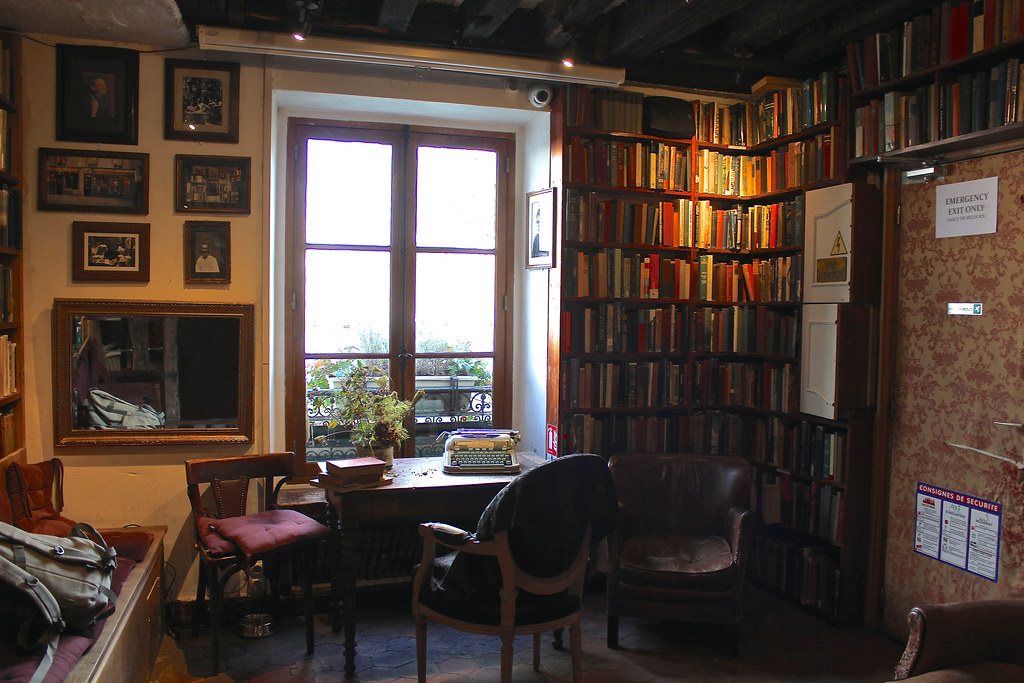 Bookshop Shakespeare and Company. Paris.