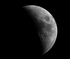 Waxing Crescent Moon 24th February 2015 (David Blanchflower) Tags: sky moon canon evening space crescent astrophotography astronomy lunar waxing skywatcher