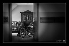 loneliness (alamond) Tags: door old light blackandwhite bw home canon wheelchair down elderly 7d l usm ef f4 1740 mkii markii brane llens lonelines alamond openshadow zalar