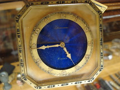 "SWEET ENAMEL FACE TRAVEL CLOCK, WORKING CONDITION • <a style=""font-size:0.8em;"" href=""http://www.flickr.com/photos/51721355@N02/16665266882/"" target=""_blank"">View on Flickr</a>"