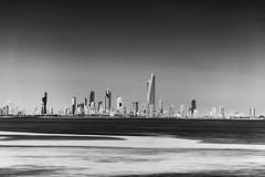 Modern City (Muhammad Al-Qatam) Tags: skyline contrast skyscraper landscape ed blackwhite high nikon ii kuwait nikkor vr afs kuwaitcity 70200mm f28g d810 alqatam malqatam muhammadalqatam