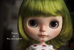 Wasabi (*SO-CALLED BLYTHE* by so-called anna) Tags: green bigeyes sweet wasabi childish sbl blythedoll takarablythe blythecustom takaradoll socalledblythe frostyfrock custombysocalledanna socalledblythecustomdolls