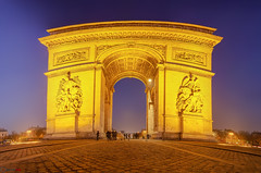 Arc de Triomphe, Paris, France (german_long) Tags: longexposure paris france night nightshot francia arcdetriomphe pars arcdetriomf