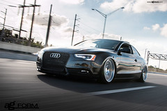 f410-spec1-polished-audi-a5-rolling (AvantGardeWheels) Tags: wheel flat mesh suspension air wheels profile lip form reverse rim audi rims a5 avant garde polished concave avantgarde f410 staggered spec1 audizine 19x95 19x105 accuair agwheels agform