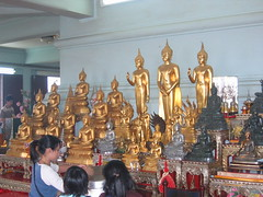 Many Buddhas in Bangkok Temple