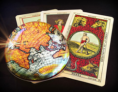 I see travels in your future. MM (Through Serena's Lens) Tags: life travel macro ball cards oracle still crystal map des tarot future mm occult tabletop mondays dames divination etteilla