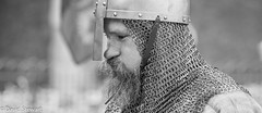 Tough work protecting the realm (Dave_G_Stewart) Tags: london toweroflondon towerbridge medieval knights fighting action history defending attack bw canon eos5mkiii 400mm