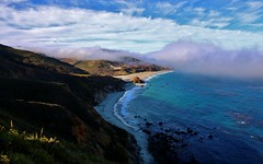 Layers of Clouds (Michael T. Morales) Tags: road blue sea water fog clouds highway scenic bigsur highway1