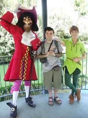 "Peter Pan & Captain Hook (Charles ""The Disney Genius"" Brown) Tags: peterpan captainhook anaheim california fantasyland fantasiagardens motorboatcruise charlesbrown disneyland"