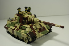King Tiger (MJR415) Tags: king tiger lego legowwii wwii world war two kingtiger tigerii panzer camouflage tank tankcamouflage germanarmor germantank camo tankcamo axistank axis