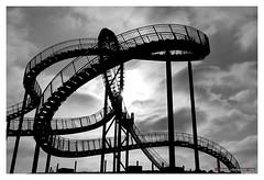 Tiger and Turtle  Magic Mountain - Landmark  in the city of Duisburg (mikael.heinrichson) Tags: panasonic flickrunited blackwhitepassionaward flickrtravelaward dmcfz100 mikaelheinrichson