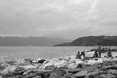 (noemi-prgrinations) Tags: liguria italia italy lerici sea porto mare blackandwhite