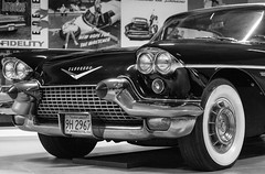 Eldorado (dtepas) Tags: car auto oldtimer cadillac eldorado 60s sixties blackwhite blackandwhite bw zwartwit zw canon 60d ef50mm eos louwmanmuseum denhaag thehague museum nederland netherlands holland flickrhivemindgroup