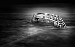 Bridge to Nowhere (MF65) Tags: longexposure bridge sea beach water concrete coast waves steel submerged d800 belhaven 2016