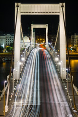 Exodus (Ian Allon) Tags: longexposure bridge hungary traffic sony budapest lighttrails hu a6000