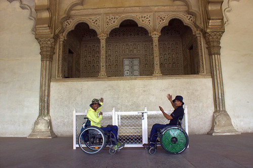 Accessible Tour of Agra:The beautiful view of the Deewan-e-aam.