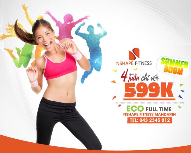 SummerBoom Tháng 7 tại NShape Mandarin – 599k cho 4 tuần tập luyện