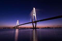 A Magic Hour (Mamiko Shinzawa) Tags: japan bridge night seascape