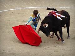 Dobln de Manuel Escribano (aficion2012) Tags: arles francia france paques 2016 corrida bull fight bulls toro toreau torero toreador matador manuel escribano dobln muleta pedrazasdeyeltes pedrazas