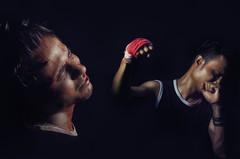 Fury (Soumin Shahrid) Tags: nikon low light key boxing blood superimpose levitation indoor portrait conceptual photoshop