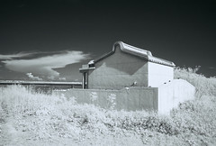 Penghu Infrared-7 (bluetrayne) Tags: infraredphotography infrared infraredfilm blackandwhitephotography landscape landcapephotography analogphotography taiwan penghu clouds