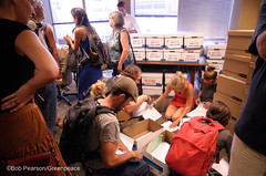 Checking Boxes Inside (Greenpeace USA 2016) Tags: colorado ban fracking petition truck delivery fossilfuel oil gas denver coalition