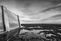 Wellington Point (JakaPH Photography) Tags: landscape seascape wellington point queensland australia dawn sunrise clouds long exposure morning water sea black white bw movement