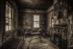 One Night, Two bits (snaphappyd) Tags: hdr ghost twon bodie hard times dusty vintage interior furnishings desert high california