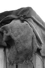 sackcloth (letalka) Tags: blackandwhite monochrome sackcloth smoke smog texture village