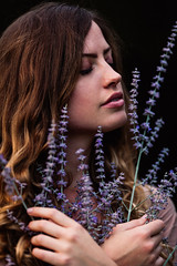 Purple (nicksparksphotography) Tags: 200mm f2 is 3 5dsr canon fashion female free people model portriat arms crossed calm colorado denver dress eyes closed flowers holding lavender portraits purple smelling wild 200mmf2is freepeople armscrossed eyesclosed holdingflowers wildflowers