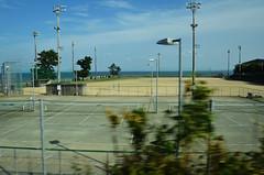 Tennis Courts From Train (Bracus Triticum) Tags: from autumn japan train landscape october tennis 日本 courts nagasaki kyushu 九州 2014 10月 長崎県 十月 神無月 kannazuki かんなづき themonthwhentherearenogods 平成26年