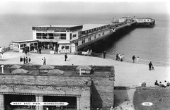 West End Pier, Morecambe (trainsandstuff) Tags: westendpier morecambe seaside postcard vintage retro lancashire britain uk old archival oldpostcard history