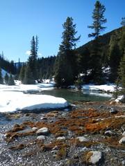 Johnston Canyon - Inkpots Winter Hike - The Inkpots are a series of pools (benlarhome) Tags: winter mountain canada cold ice montagne trekking trek rockies nationalpark hiking hike alberta rockymountain banff wandern gebirge johnstoncanyon inkpots