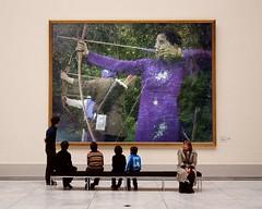 Archery-PhotoFunia (Frizztext) Tags: woman afghanistan sports japan museum blog focus wordpress politics bow wikipedia archery kyudo twitter womensliberation frizztext museumseries kyūdō napix photofunia