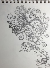 Flowers (iHeartHandmade) Tags: flowers doodles micron zendoodles