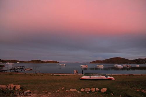 puesta del sol en Isla del sol - Bolivia