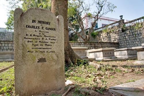Grave near Macau Protestant Chapel
