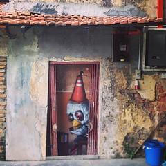 Hin bus depot art center. Penang.2015. #bon #muebon #penang #bangkok #souledoutstudios #streetart #graffitiprints #graffite #hinbusdepot #wall #bbird #heart #like #life (-BON-) Tags: square squareformat mayfair iphoneography instagramapp uploaded:by=instagram
