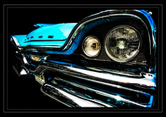 Dodge Coronet (madmtbmax) Tags: auto blue usa car vintage nikon turquoise hobby retro chrome american 1950s dodge headlight 500 coronet 50er 1950er uscar d700 worldcars vividstriking