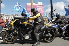 Hope Over Fear Rally Glasgow (Ben.Allison36) Tags: hope scotland election general glasgow fear rally over motorbike motorcycle scooters 2015