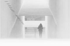 Snowstorm (Elliotphotos) Tags: ohio blackandwhite snow art for state snowstorm arts center osu elliot theohiostateuniversity wexner ohiostateuniversity snowstorms wexnercenterforthearts gilfix elliotphotos elliotgilfix