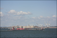 Ships and Cranes (Loops666) Tags: industry clouds port harbor newjersey crane tugboat shipping barge