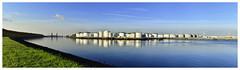 Grn Blau Weiss (tsobanski19) Tags: morning blue panorama netherlands rotterdam harbour storage oil blau hafen morgen tanks niederlande d800 l vopak europoort lagerung ltanks