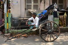 India - West Bengal - Kolkata - Streetlife - Pulled Rickshaw - 32 (asienman) Tags: india kolkata westbengal pulledrickshaw asienmanphotography