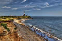 From Atop the Bluffs (NYRBlue94) Tags: ocean lighthouse newyork beach rock point longisland atlantic shore montauk hdr bluff