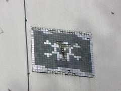 Space Invader NCL_13 (tofz4u) Tags: uk streetart black silver newcastle tile skull noir unitedkingdom mosaic spaceinvader spaceinvaders angleterre invader damaged argent newcastleupontyne mosaque artderue ttedemort ncl13