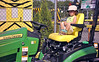 Tractor driving toddler