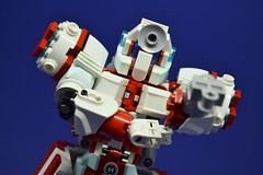 Medic_18 (Shadowgear6335) Tags: red white robot lego system technic medic bionicle moc shadowgear shadowgear6335