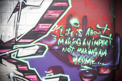 Life is about making an impact (Rodosaw) Tags: documentation of culture chicago graffiti photography street art subculture exito cmk