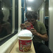 Cup noddles, comida de trem
